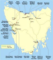 Tasmanian Rail Trail Maps