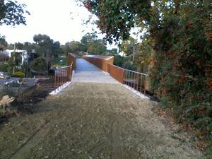 Warburton Rail Trail Maroondah Highway Bridge Completed (VIC)