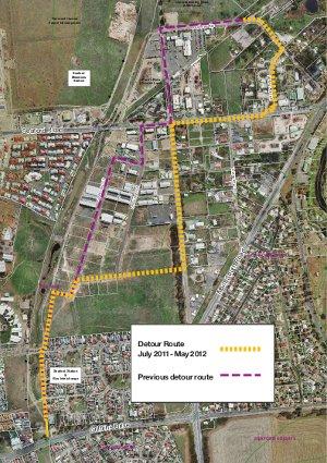 Coast to Vines Rail Trail Detour (SA)
