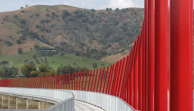 Red Sticks on the Sandy Creek Bridge