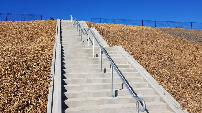 Bellarine Rail Trail Overpass steps