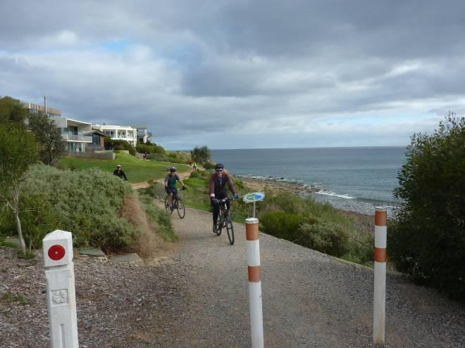 Cliff top trail between Marino Rocks and Hallett Cove S10 057 Hallet Cove SA RT Tour QB 2017 P1070707