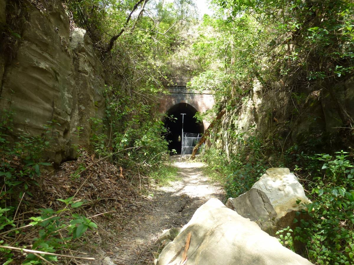 Entrance to the first tunnel (2013)