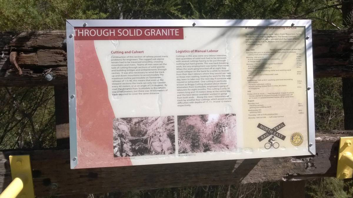 Many interpretive signs provide fascinating information about the region and the railway history (2017)