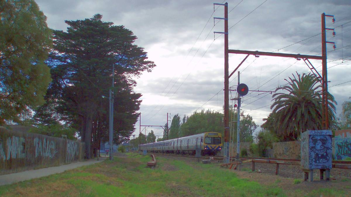 The end of the trail approaching Fairfield station (2007)
