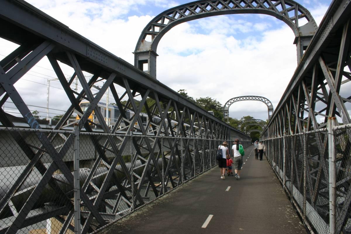 The Oatley/Como Rail Trail Bridge