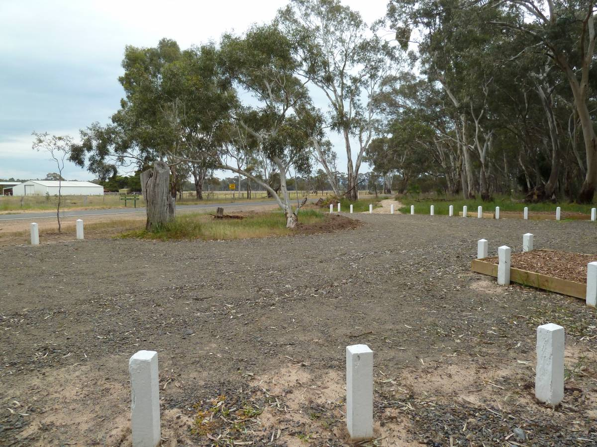 Carpark on Grampians Rd at start of trail at Stawell West