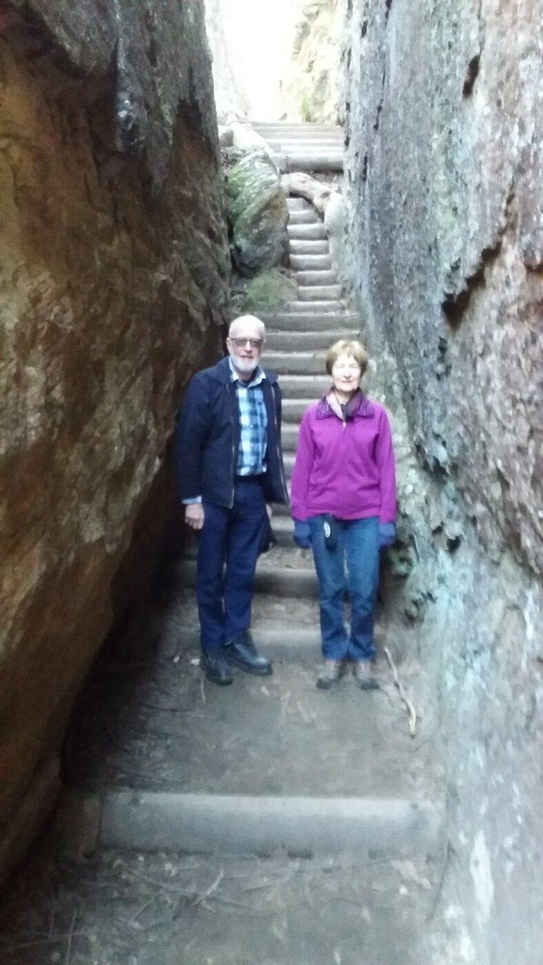 Steps in the sandstone