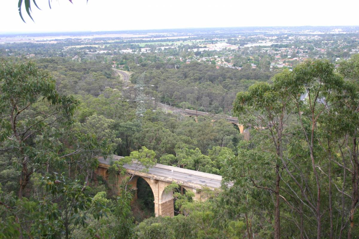 The viaduct from the top of the zig zag. (2009)