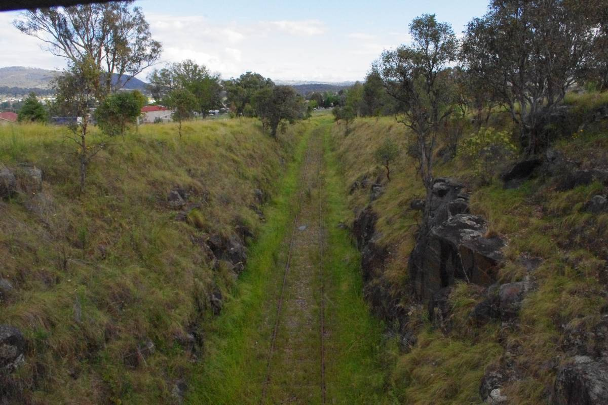 Deep cutting out of Tenterfield (2012)