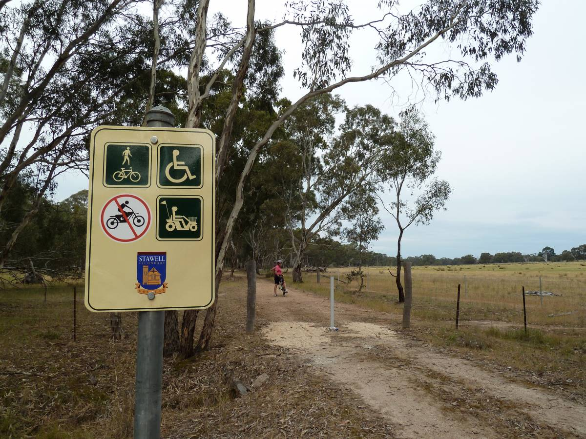 Trail user sign