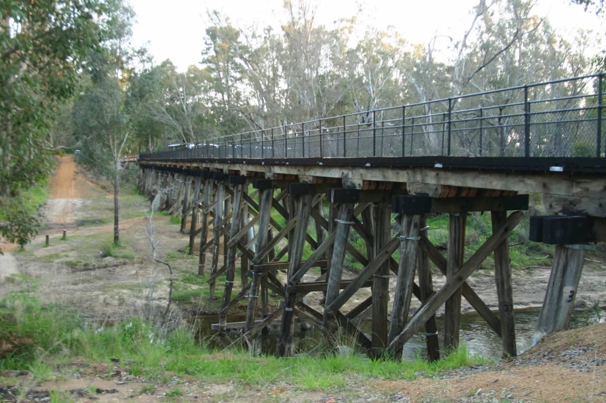 Timber bridge at Nannup