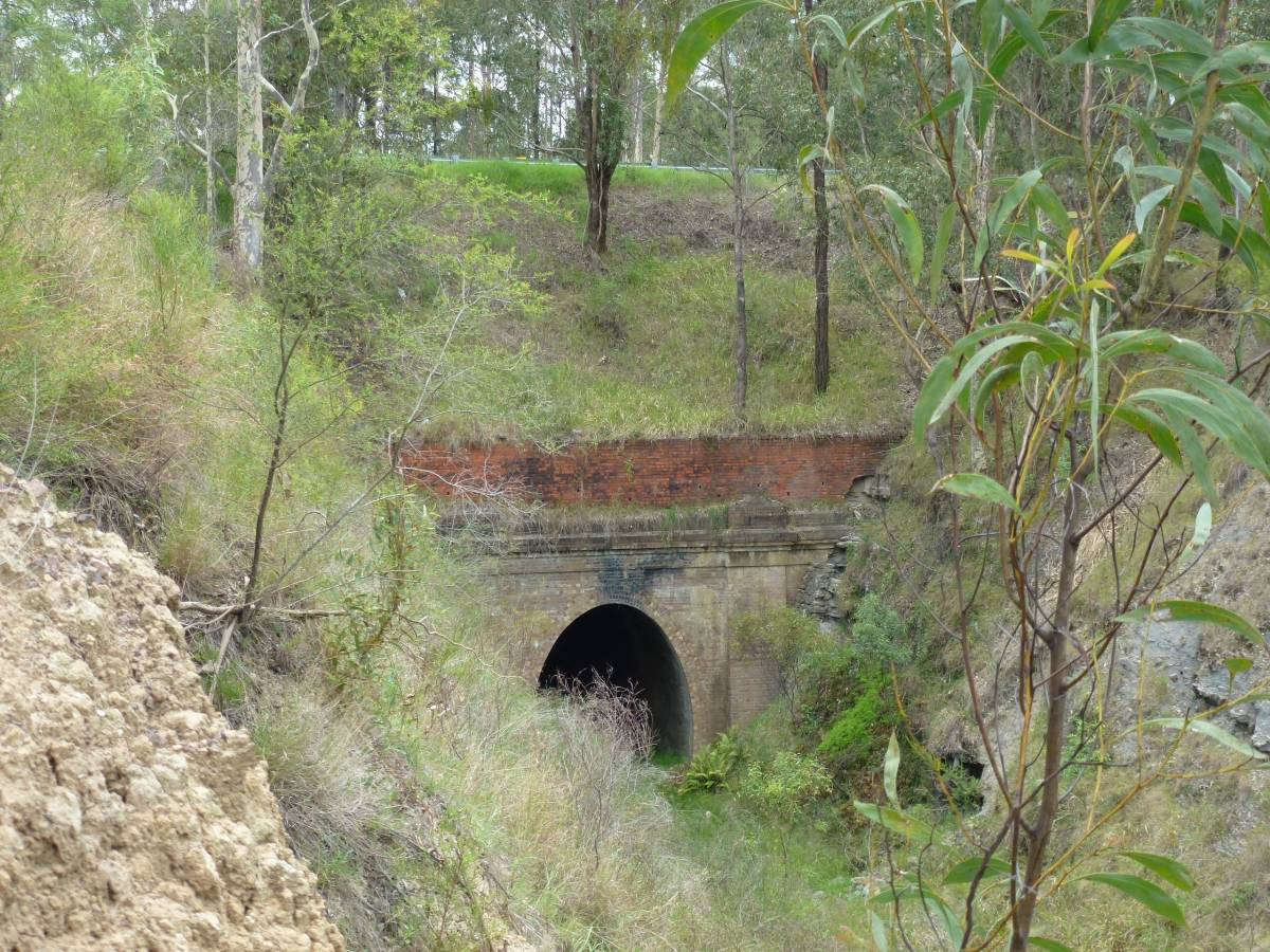 The entrance to the third tunnel towards Richmond Vale (2013)