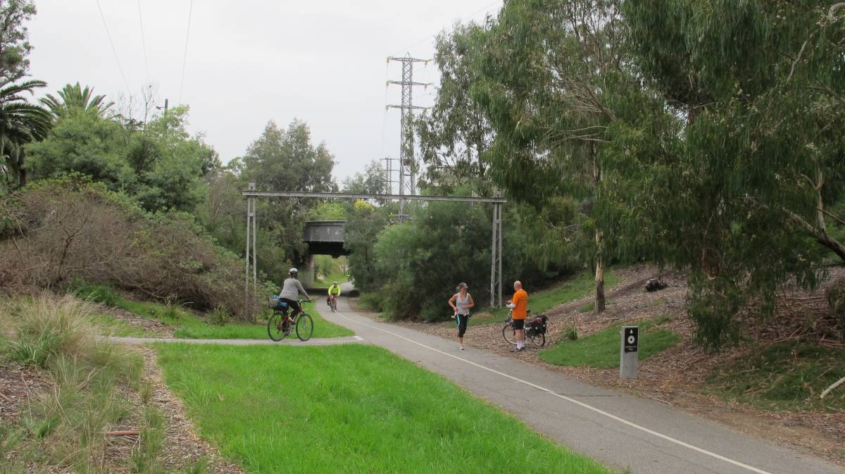 The western end of the rail trail. (2011)
