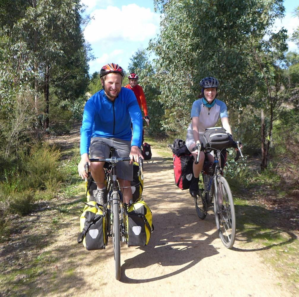 Enjoying the ride between Bruthen and Nowa Nowa (Steve Bennett)