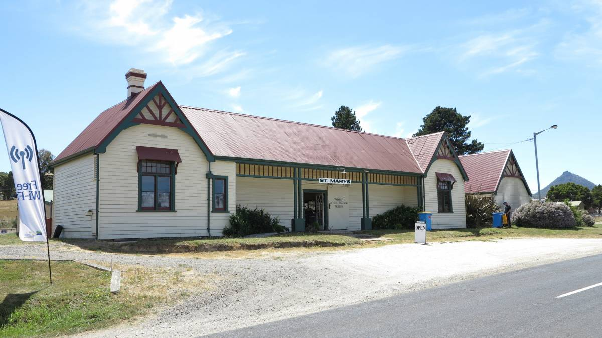 The St Marys station is hard to miss from the Esk Highway (2014)