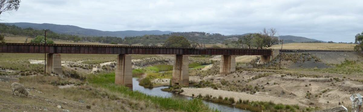 Railway Bridge over Molonglo River (Feb 2018)