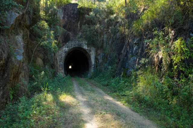 One of the Tunnels on the Rail Trail (2010)