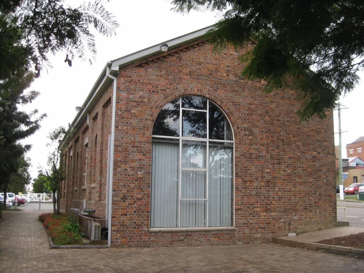 Wallsend restored goods shed (2012)