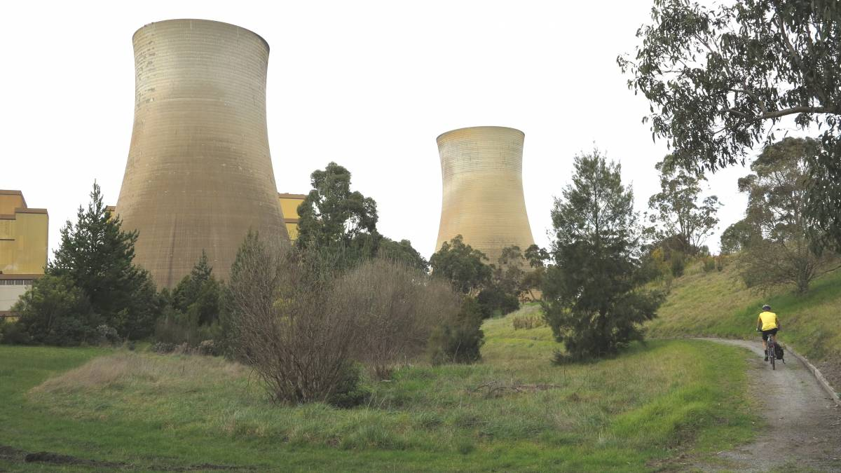 Approaching the Yallourn Power Station