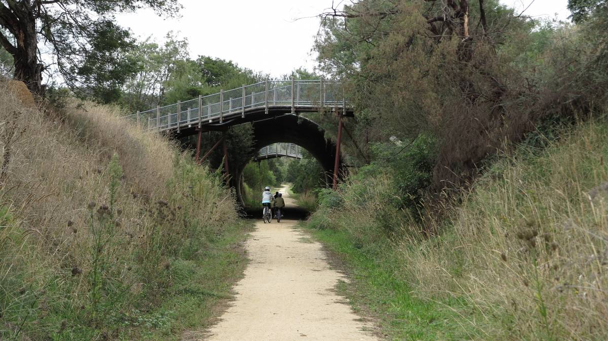 The Great Alpine Rd underpass at Bruthen