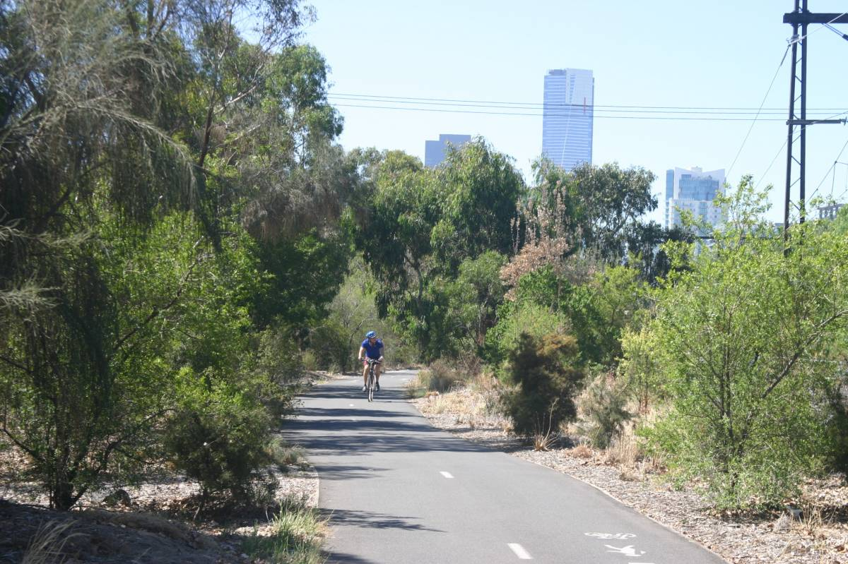 Typical scenery along the trail (2007)