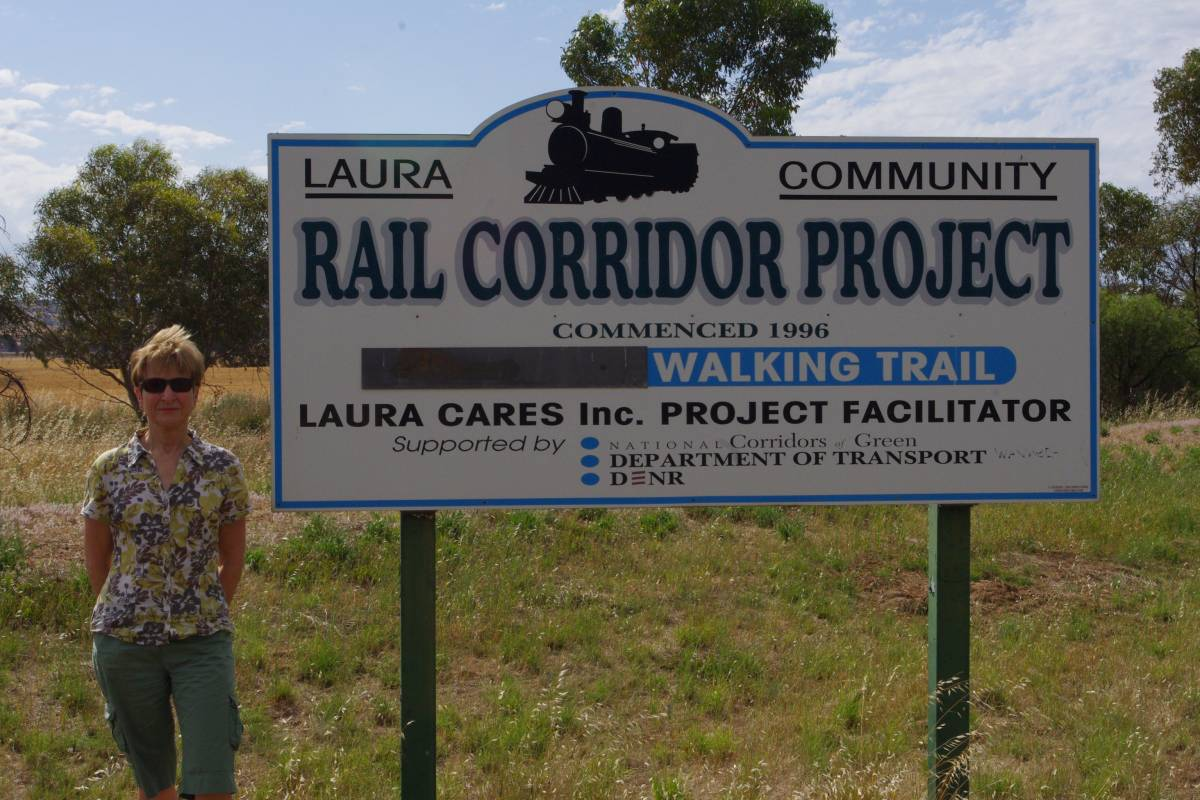 Sign on Laura to Gladstone section (2011)