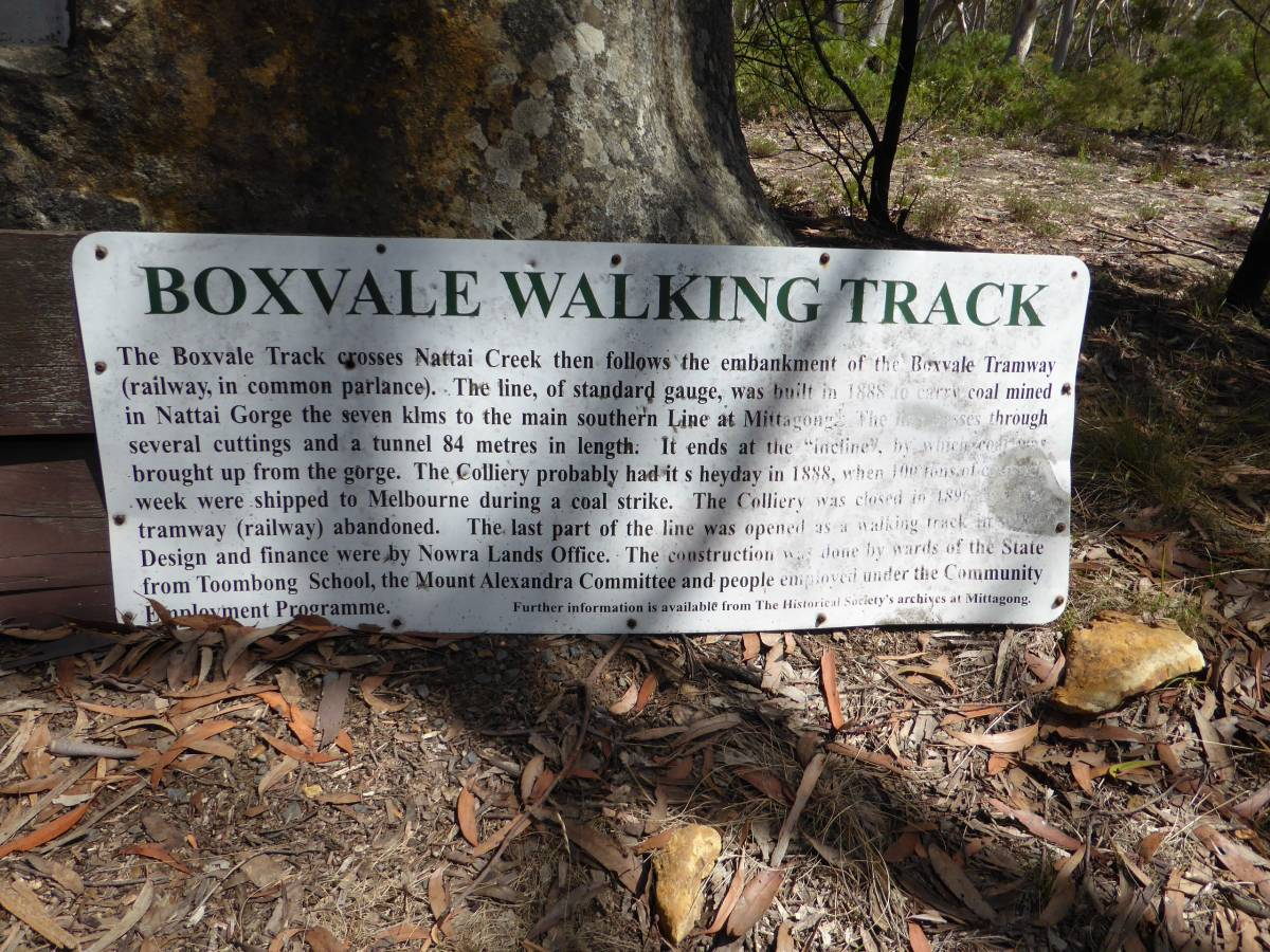 Information sign at trailhead (Feb 2018)