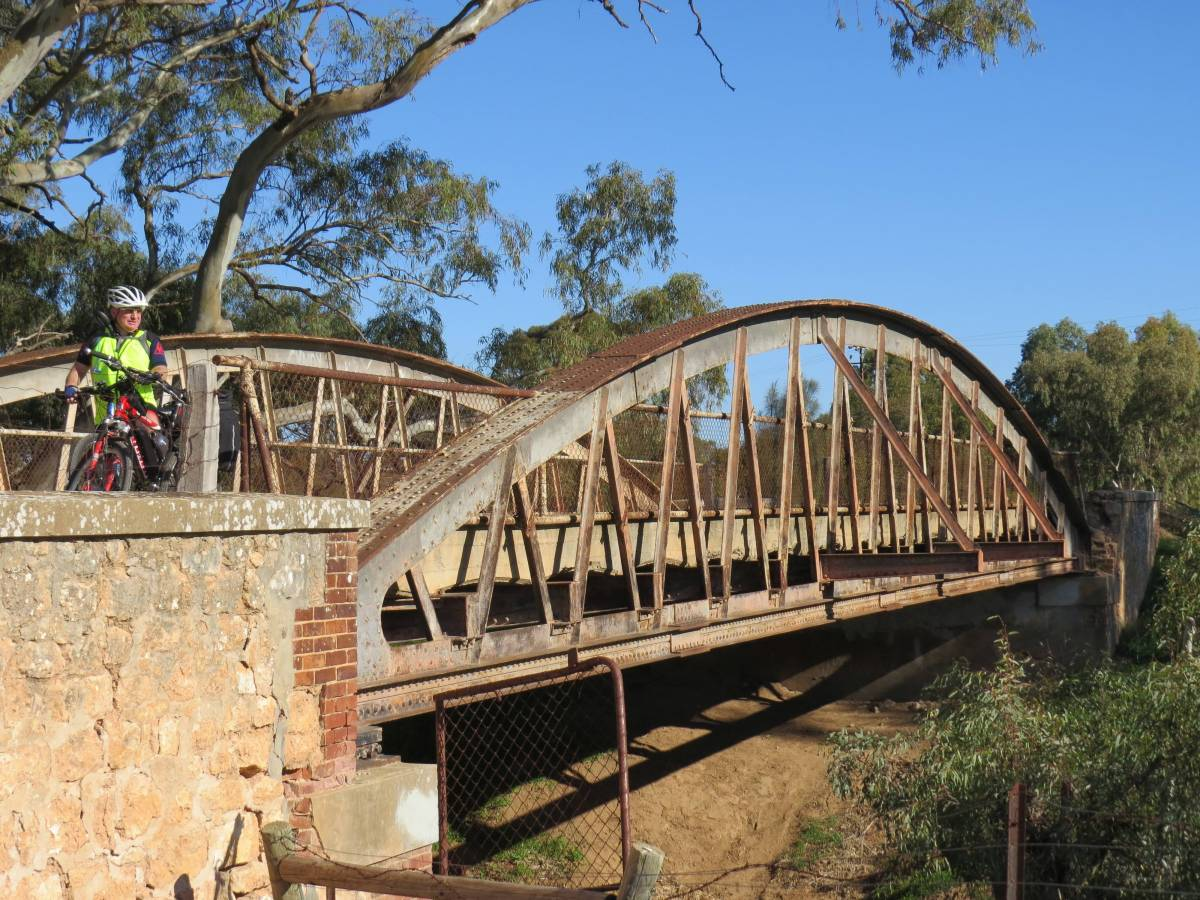 The rail trail crosses the Wakefield River by using Dunns Bridge which was built in 1880