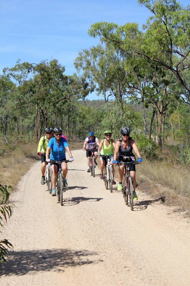 Safe group riding on alignment, now used as station road 2015