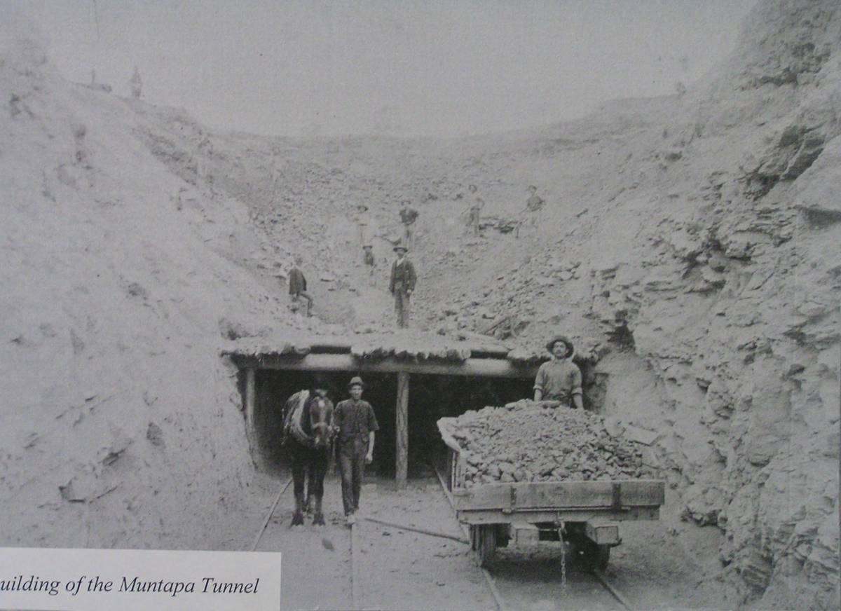 Construction of the tunnel was done the hard way!