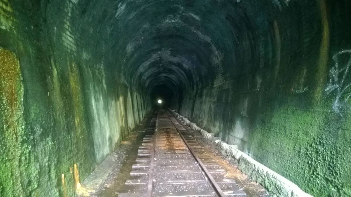 The long tunnel at Tunnel will be another feature of the future rail trail section (2017)