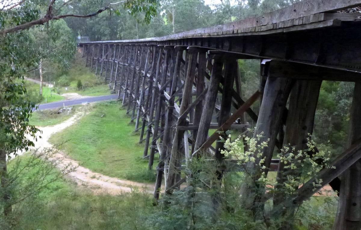 Wairewa Rd bridge bypass between Nowa Nowa and Tostaree (Steve Bennett)