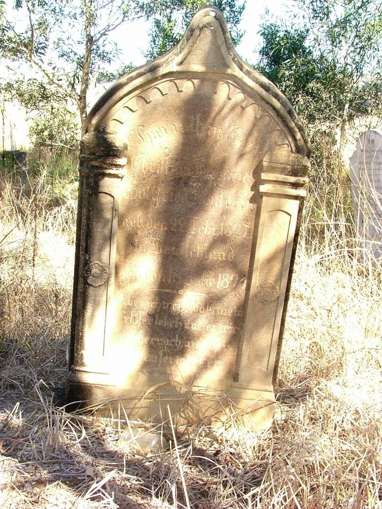 A grave in the historic cemetery