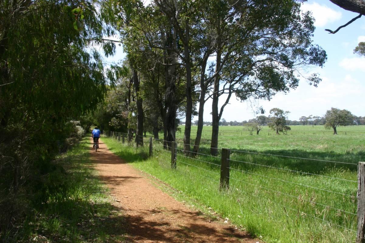Near its northern end, the trail passes through farmland 2006
