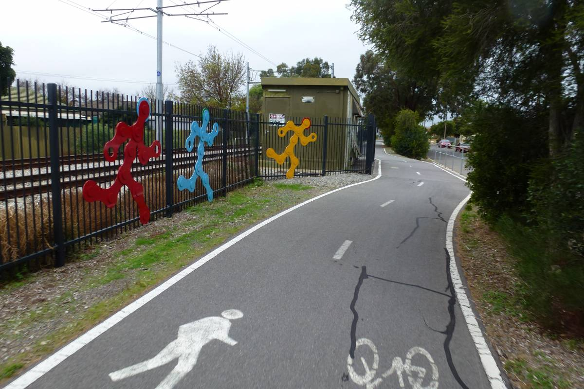 Trail with sculptures in the Plympton area
