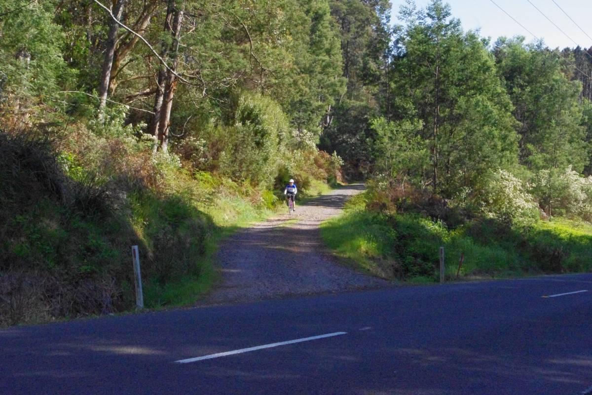 A road crossing near the halfway point (Nov 2012)