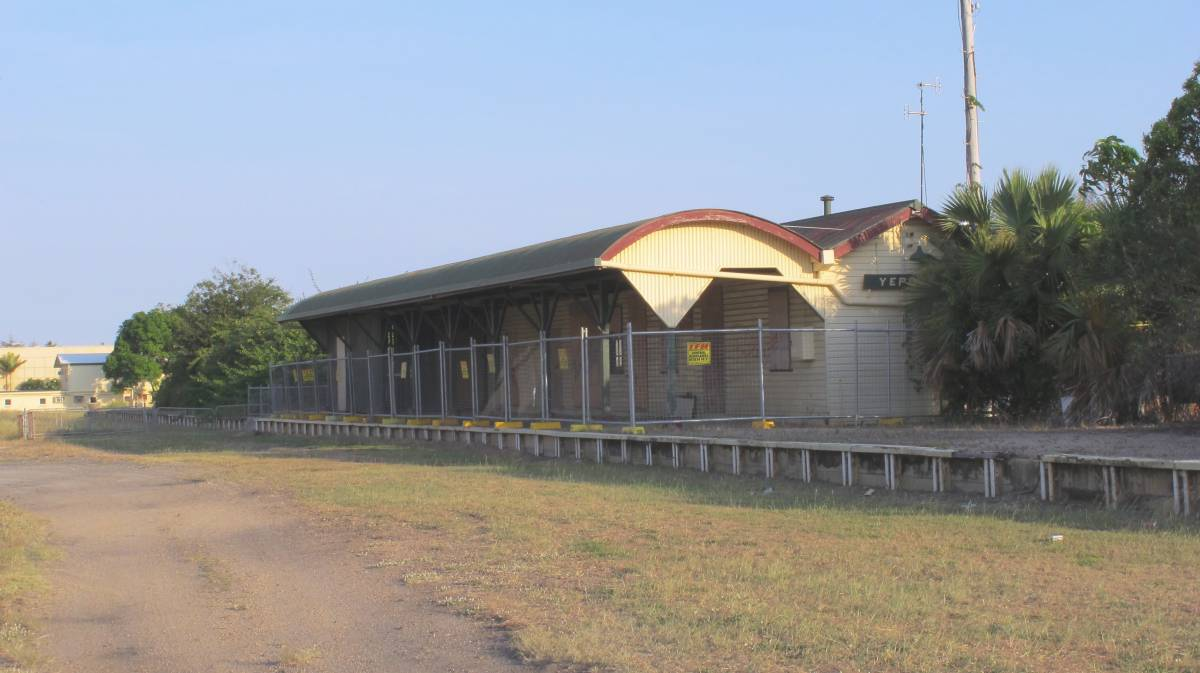 Yeppoon Railway Station.  This station area land is to be redeveloped (2012)
