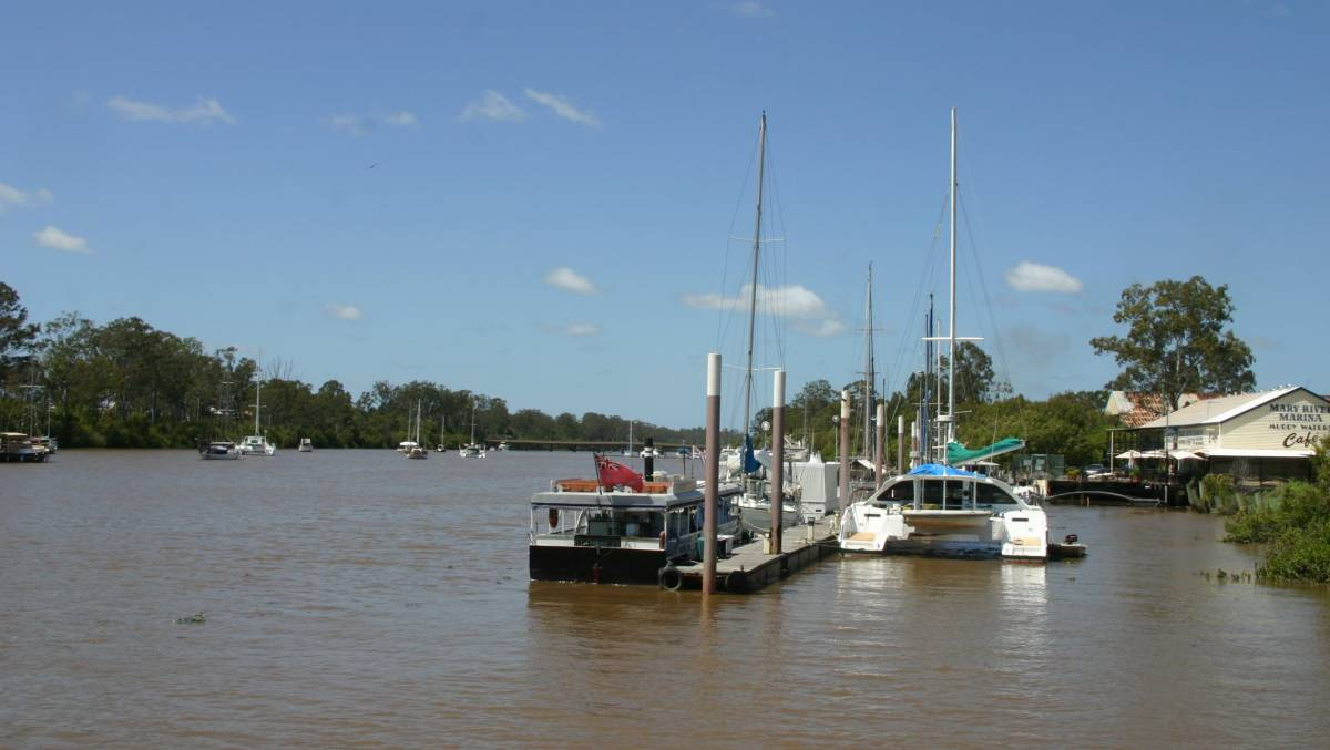The Mary River is a major feature of historic Maryborough, the future destination of the rail trail.
