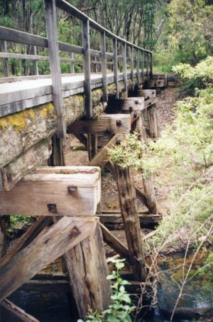 Bridge on the trail between Margaret River and Cowaramup 2006