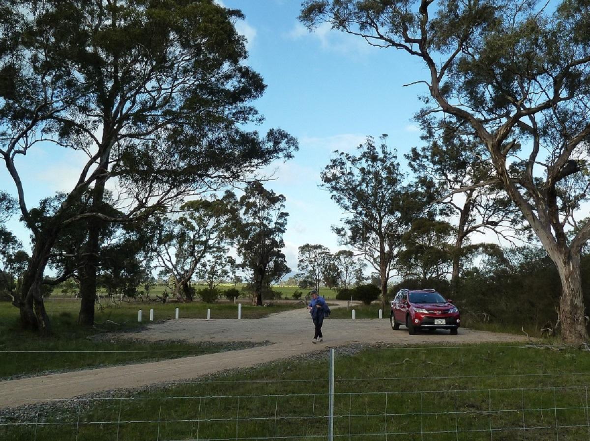 Carpark at Mt Dryden Rd. end of trail (2014)
