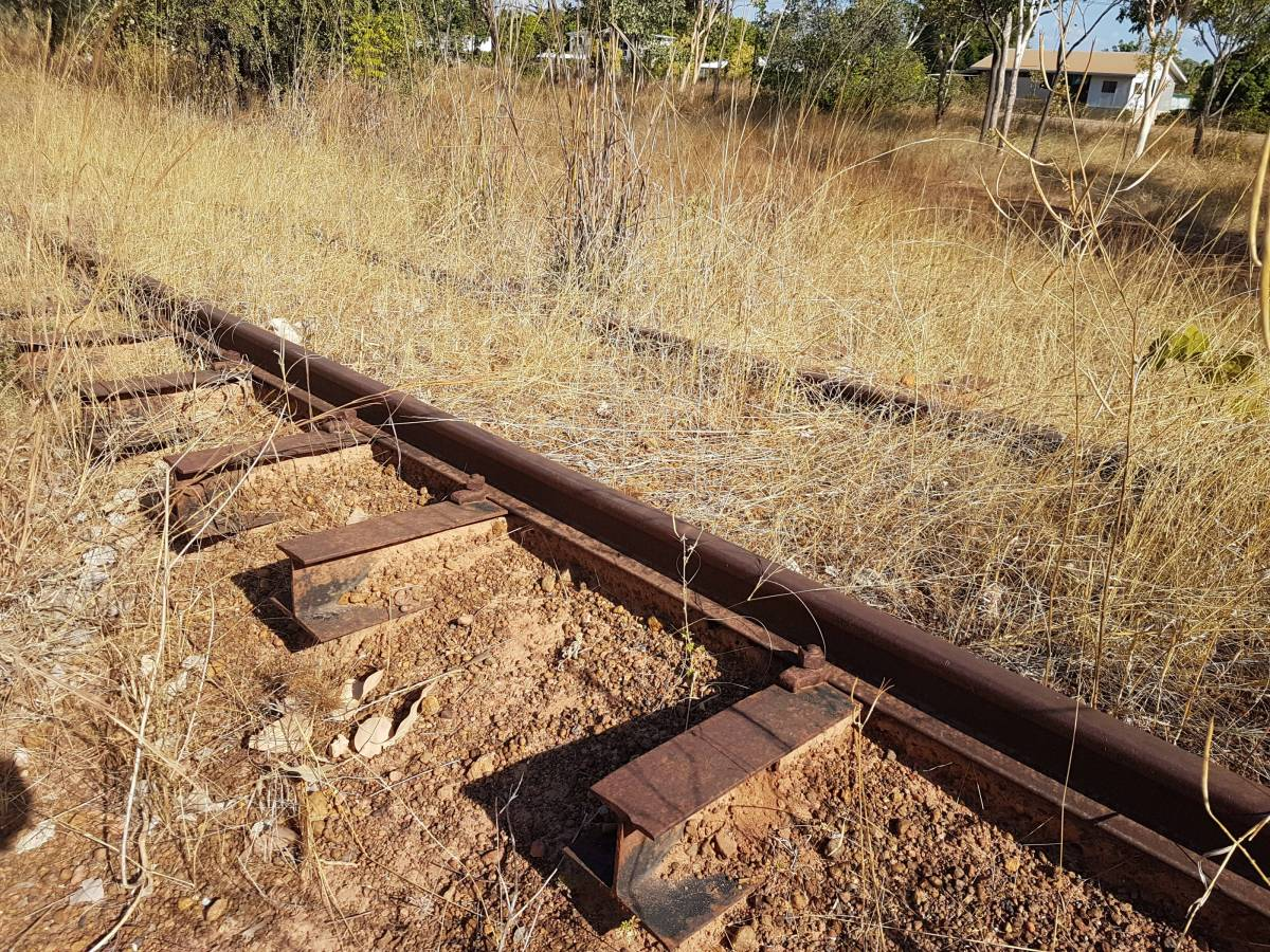 Basic I beams instead of the usual type of termite resistant steel sleepers! (Garry Long 2018)