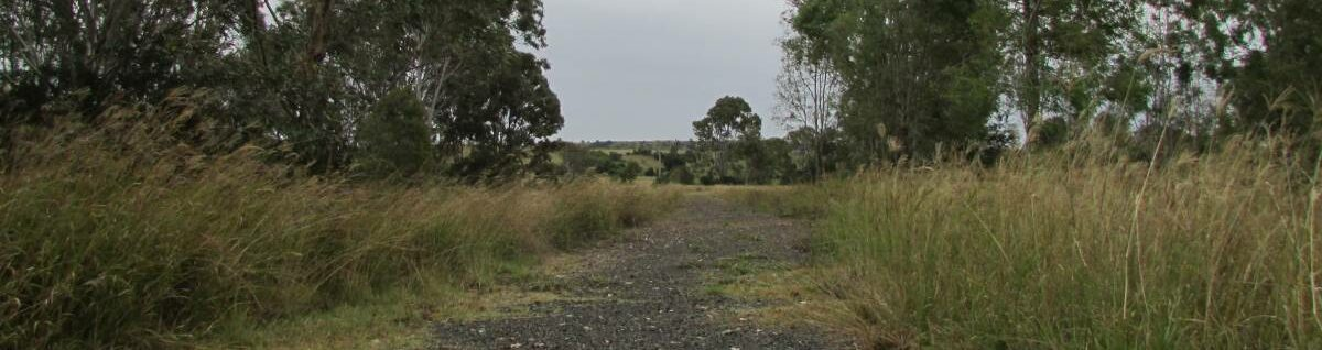 The formation and grade of the rail trail.  It is easy to traverse, even if it is a bit short