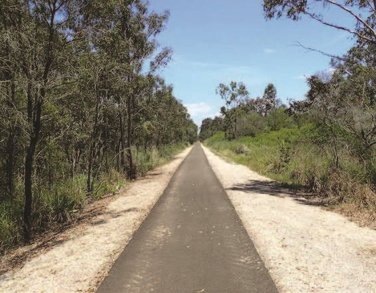 The existing rail trail at Sharon (Bundaberg Regional Council 2019)