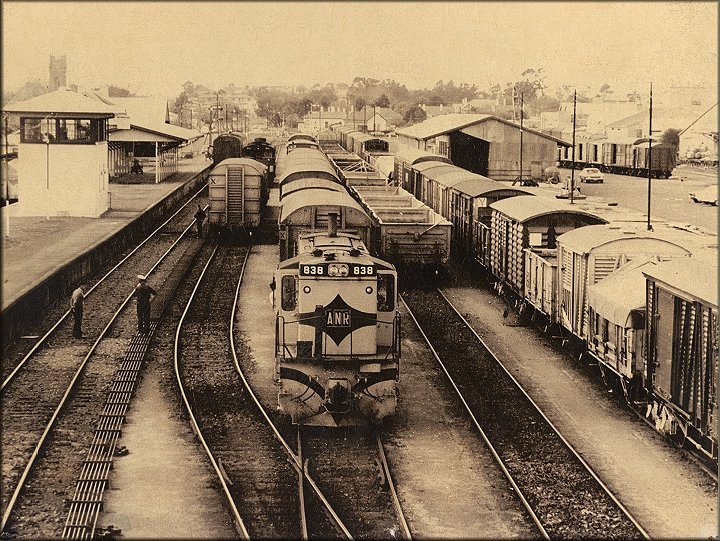 The railway yard was very busy in the early 1980s (Morris Broad)