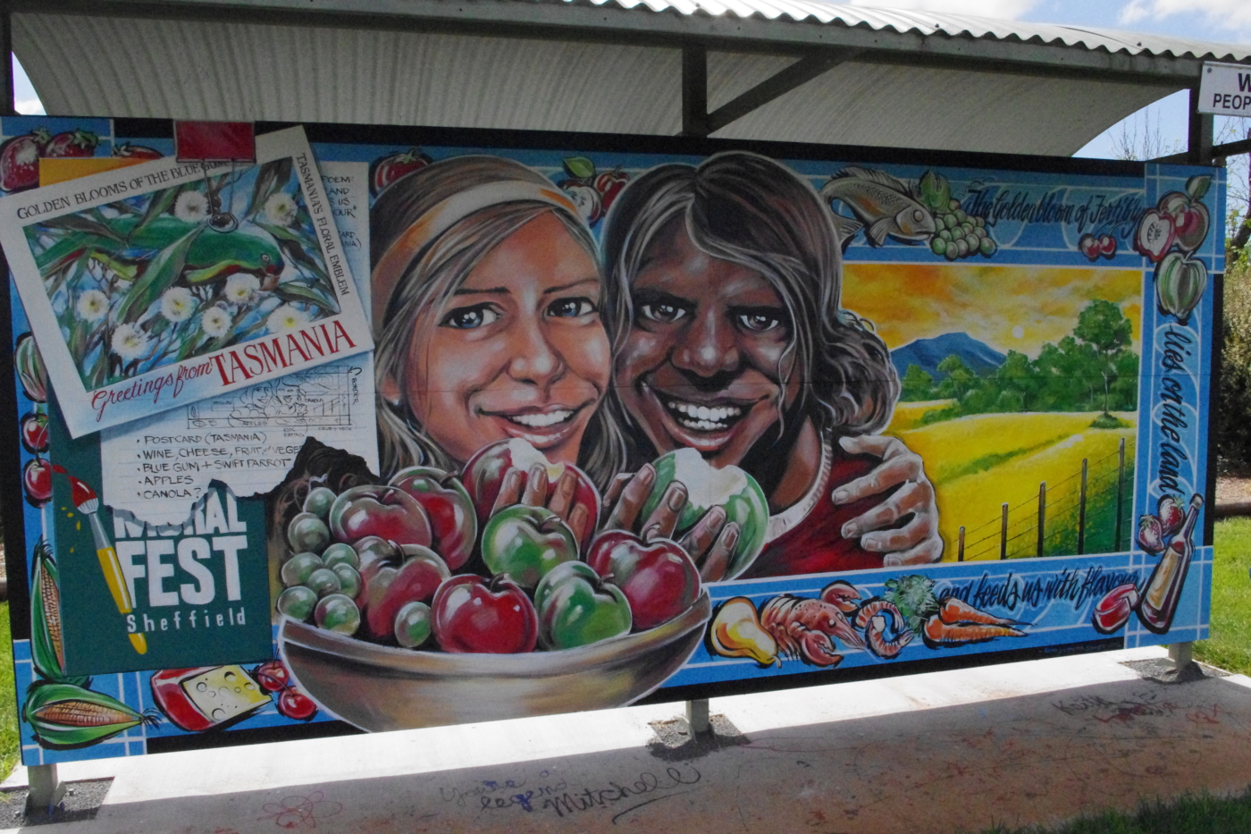 One of the many murals at Sheffield