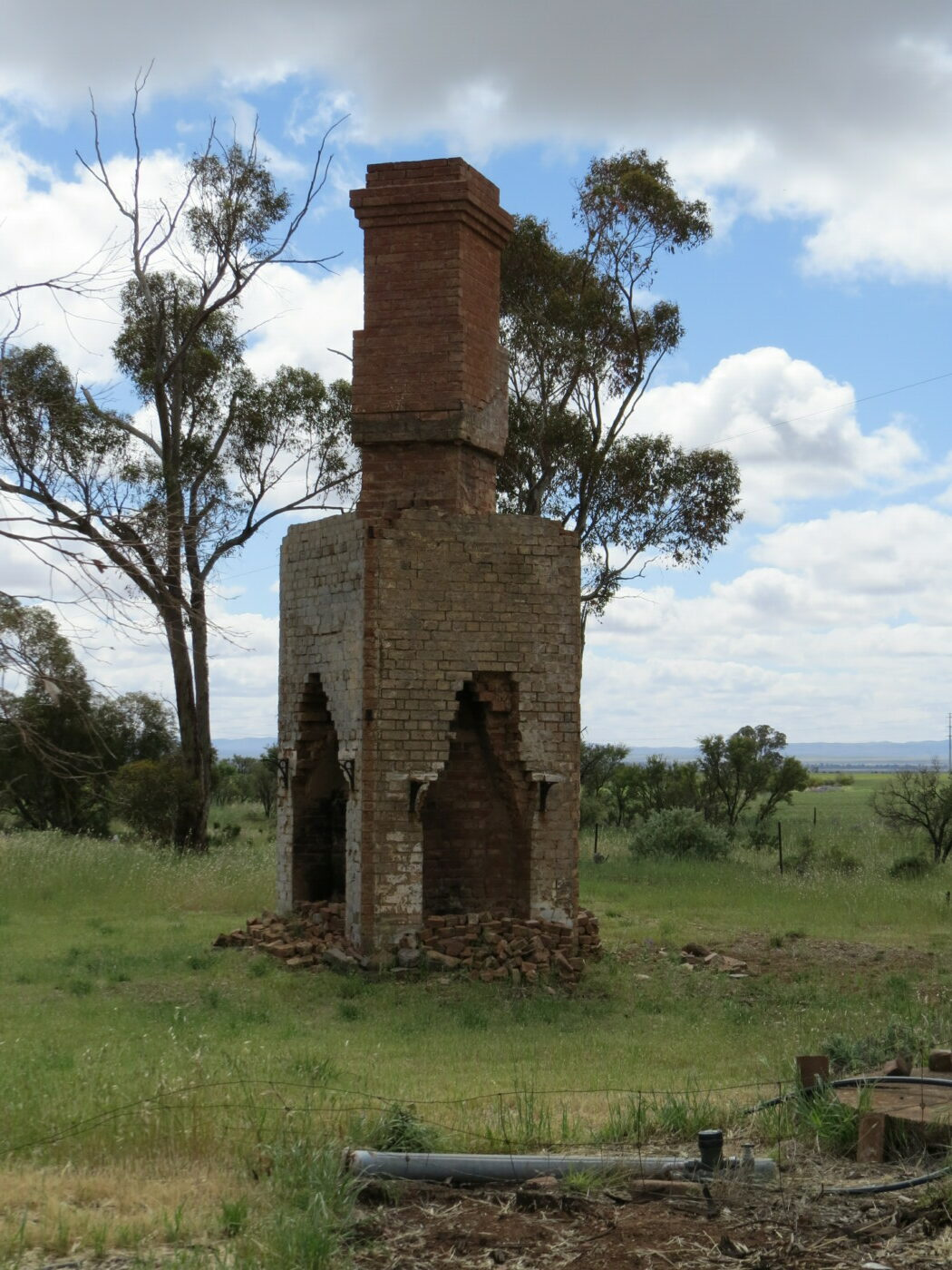 remains of a chimney at the Terka Station location 2020