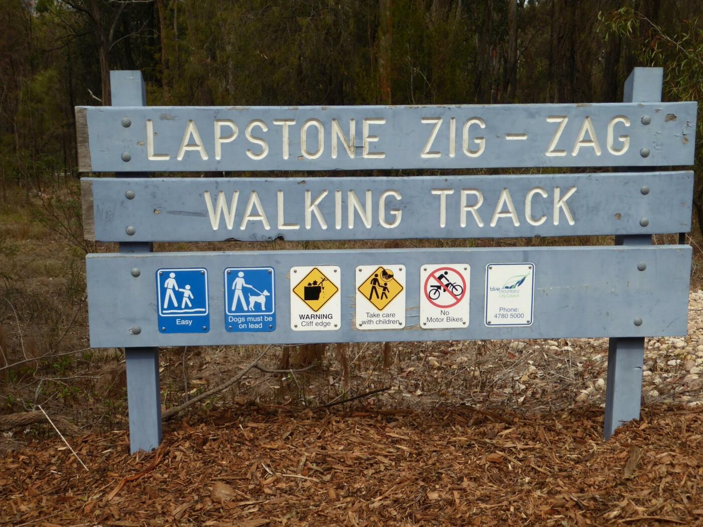 Walking track sign, Lapstone