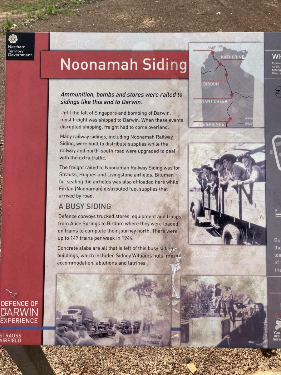 Noonamah Siding signage (2020-10)