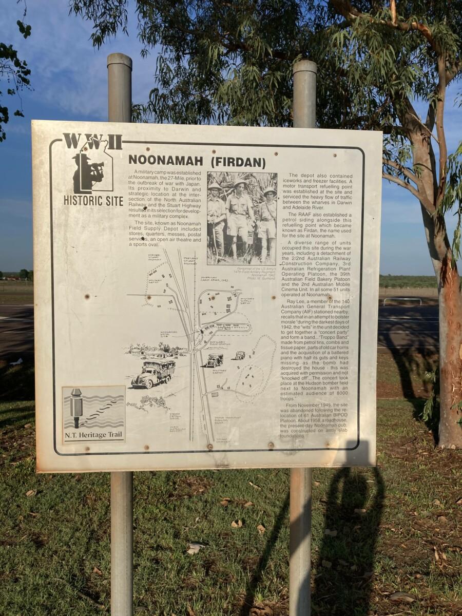 Noonamah WWII signage (2020-10)